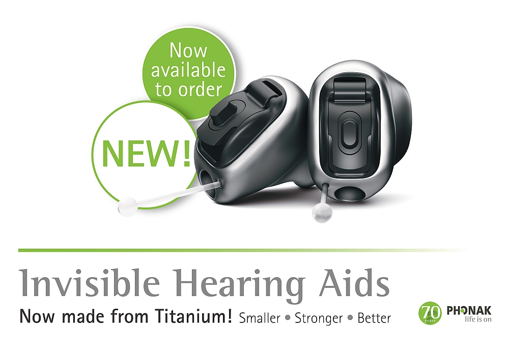 Phonak Titanium Invisible Hearing Aids