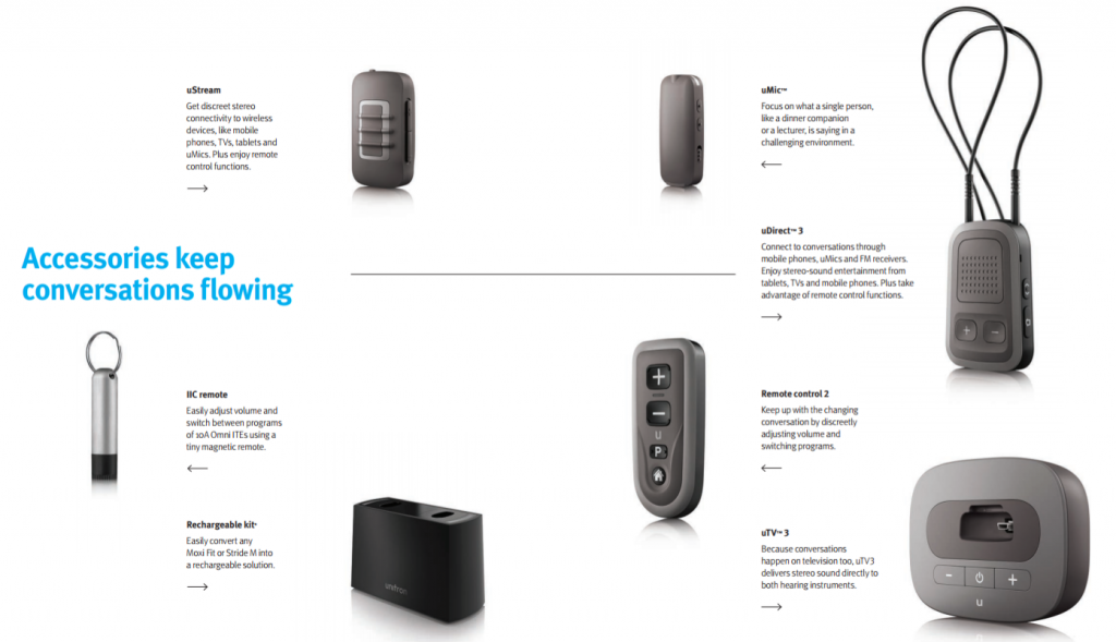 unitron hearing aid accessories