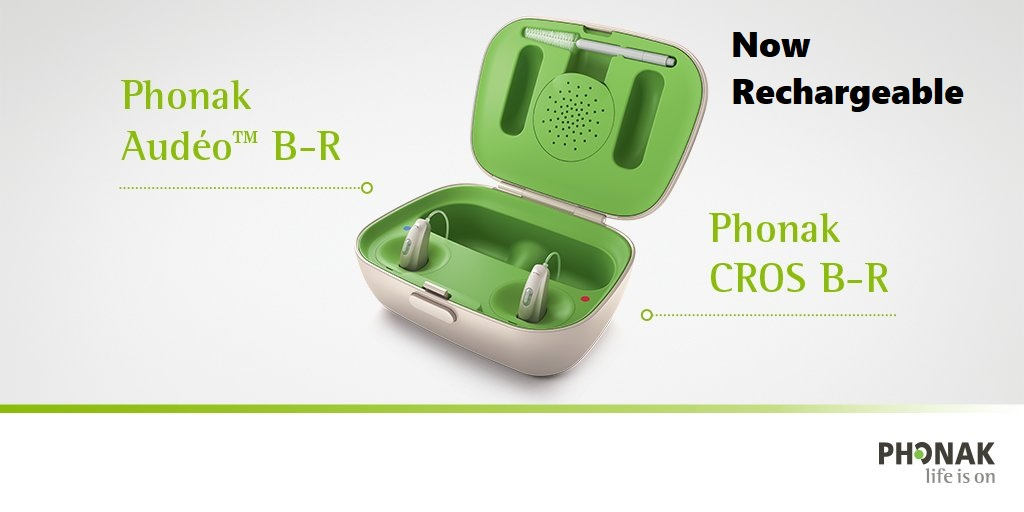 Rechargeable CROS Hearing Aids